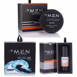 Bộ dưỡng trắng da hoàn hảo The Men 3 in 1 - Body, Face, Facial