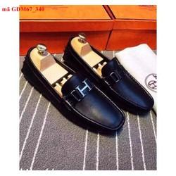 Giày mọi nam khóa chữ Hermes phong cách lịch lãm GDM67