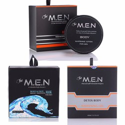 Bộ dưỡng trắng da hoàn hảo The Men 3 in 1 - Body, Face, Detox