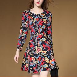 Đầm xòe họa tiết phong cách Châu Âu