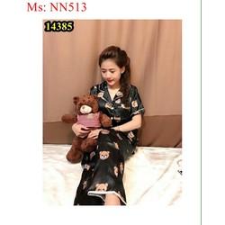 Đồ bộ mặc nhà phi bóng hình gấu dễ thương NN513