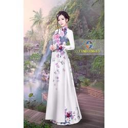 vải áo dài hoa rơi ý tưởng 3786
