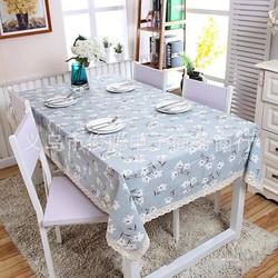 Khăn trải bàn cành hoa trắng BINBIN KB08