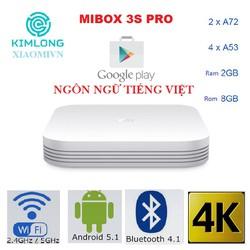 Android Tivi Box Mibox 3 Pro Tiếng Việt và GooglePlay