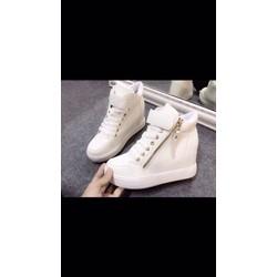 giày bata đế độn 1 dây kéo
