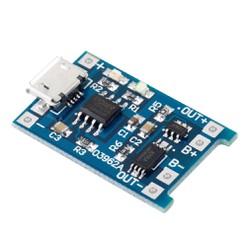 Mạch sạc pin lithium 18650 1A cổng micro USB có bảo vệ pin