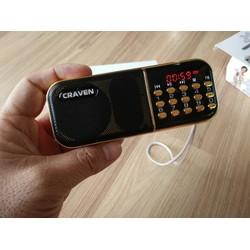 MÁY NGHE THẺ NHỚ, USB, RADIO CRAVEN CR-25A CÓ MÀN HÌNH LCD CỰC HAY