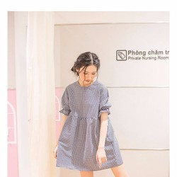 Đầm babydoll sọc nhí
