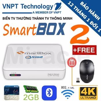 SMARTBOX TIVI thế hệ thứ 2 VNPT + Tặng chuột FORTER trị gía 200K - VNP...