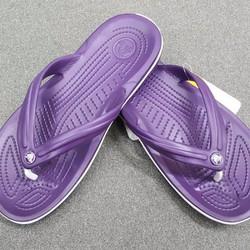 Dép xỏ ngón crocs band flip màu tím
