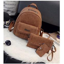 Balo da nữ thời trang 2017  tặng kèm ví cầm tay và ví đựng card  - 380