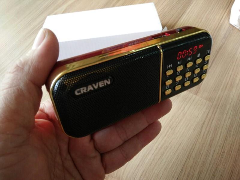 LOA NGHE THẺ NHỚ, USB, RADIO CRAVEN CR-25A CÓ MÀN HÌNH LCD CỰC HAY 2