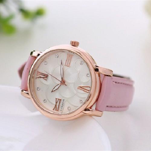 Đồng hồ nữ Hongxin dây da cao cấp SP685