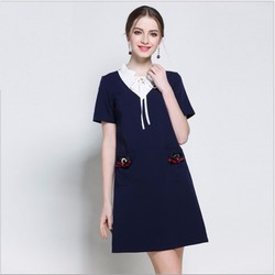 Đầm suông họa tiết xuân hè thời trang nữ 2017 cho người mập - MZ3290