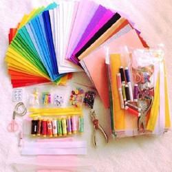 Nguyên liệu vải dạ nỉ và vật dụng handmade làm sách vải cho bé