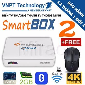Smartbox Tivi thế hệ 2 VNPT + Tặng Chuột RAPOO 1090PRO siêu nhạy 300K ...
