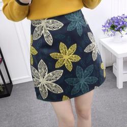 hàng nhập - chân váy in hoa CV009