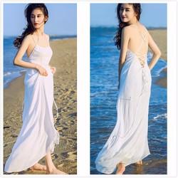 Đầm Maxi trắng - Chuyên hàng Quảng Châu chính gốc giá tốt