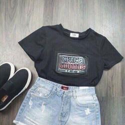 Quần shorts jean nữ MS035