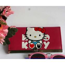 Ví da nữ thời trang dạng nẹp Hello kitty xinh xắn VIDA40