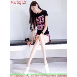 Sét áo thun Love Dept phối quần short năng động trẻ trung SQ121