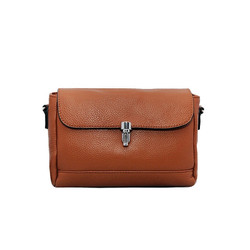 Túi đeo chéo nữ da bò thật cao cấp ELMI màu nâu cam ETM749