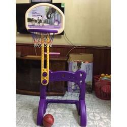 Bộ trò chơi kết hợp khung thành bóng rổ cho bé