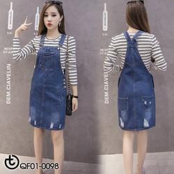 Đầm yếm Jeans mài Quảng Châu