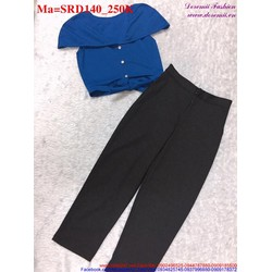 Sét áo croptop kiểu phối với quần lửng trẻ trung, năng động SRD140...