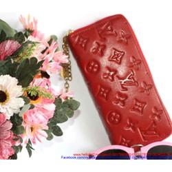 Ví da nữ thời trang 1 dây kéo họa tiết sành điệu sang trọng VIDA46