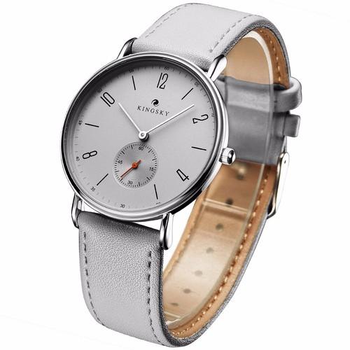 Đồng hồ dây da KINGSKY full kim AL91