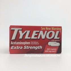Viên giảm đau, hạ sốt Tylenol Extra Strength Acetaminophen