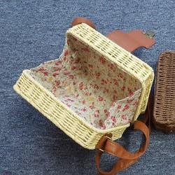 Túi cói vuông vali