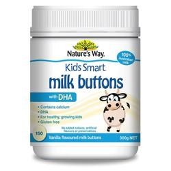 Viên nhai sữa dê non Natures Way Milk Buttons with DHA Vanilla