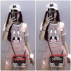 Bộ đồ mặc nhà nữ in hình chú thỏ
