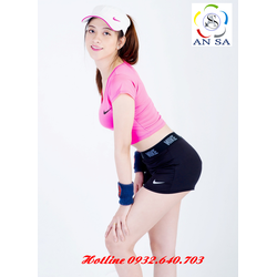 Set bộ quần áo thể thao ngắn croptop nữ