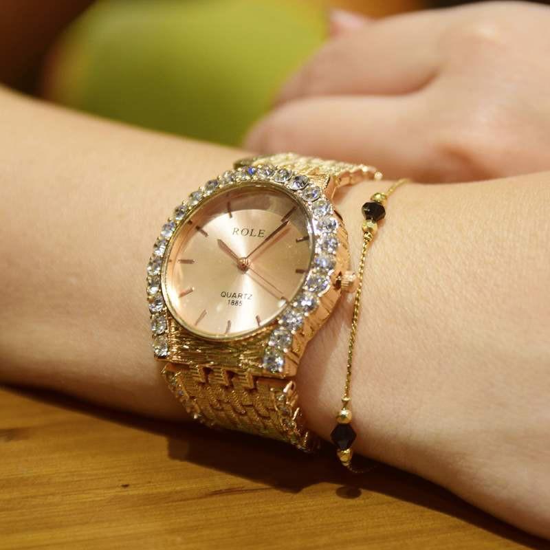 Đồng hồ đính hạt thời trang AL96 9