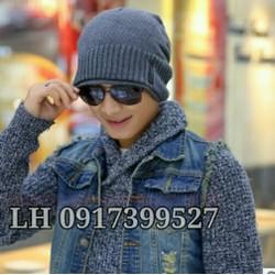 Mũ nón len nam hai lớp phong cách - HKNL03