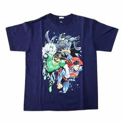 Áo thun bé trai DC Comics Xanh Đen - Tay ngắn - Size 10-12 tuổi