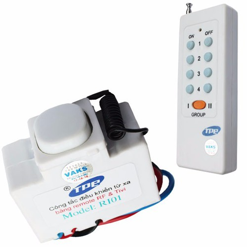 Bộ 01 công tắc điều khiển từ xa IR-RF TPE RI01+ 01 Remote 8 nút