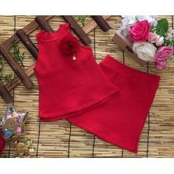 Set áo váy thun gân điệu đà cho bé yêu 1-8 tuổi