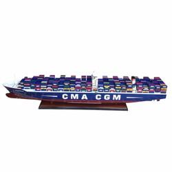 Mô Hình Tàu Container Chở Hàng CMA CGM - Thân 102cm - Gỗ