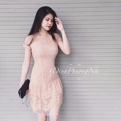 Đầm ren lông mi đẹp y hình