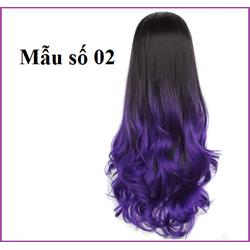 Tóc TƠ NHẬT nửa đầu xoăn đuôi màu sắc - TG96