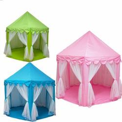 lều công chúa hồng hoặc xanh