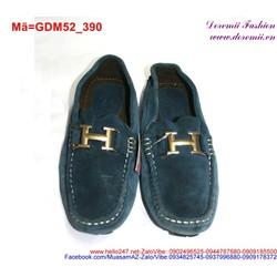 Giày mọi da nam phối chữ H sành điệu lịch lãm GDM52