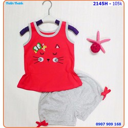 Bộ mặc nhà họa tiết mèo con xinh xắn và mát mẽ ngày hè