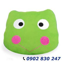 Mền gối 2 trong 1 vải bông tuyết ếch cute - A9845DD