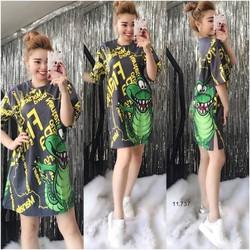 Đầm suông hoạ tiết _MỎ CHU SHOP