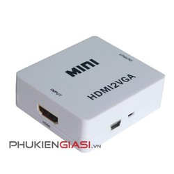 Đầu chuyển VGA to HDMI mini có hỗ trợ nguồn 5V